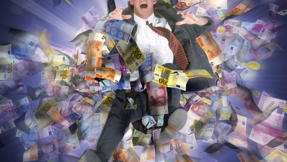 Geldregen: Schön für den Betroffenen - doch wie sind die gesamtwirtschaftlichen Folgen exzessiver Boni?