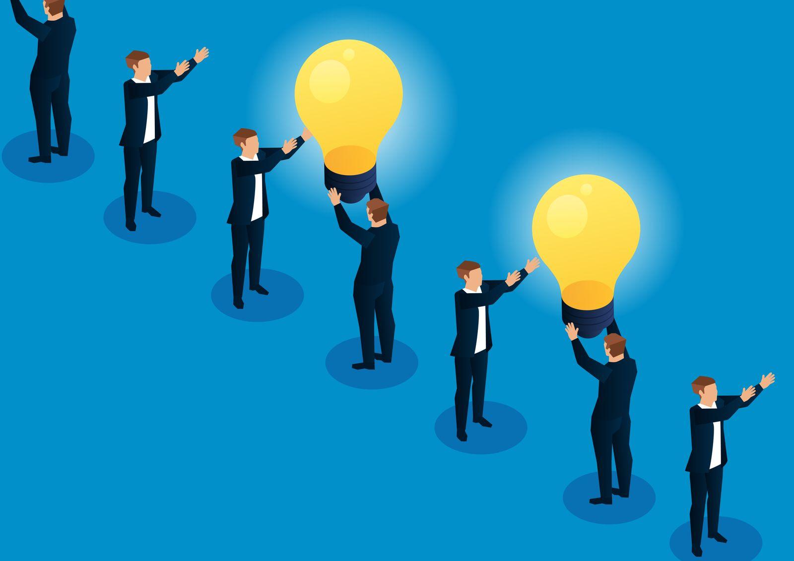 Transmitting light bulbs between merchants