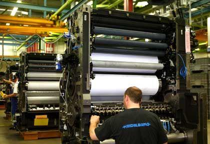 Druckmaschinenbauer unter Druck: Produktion bei Heidelberger