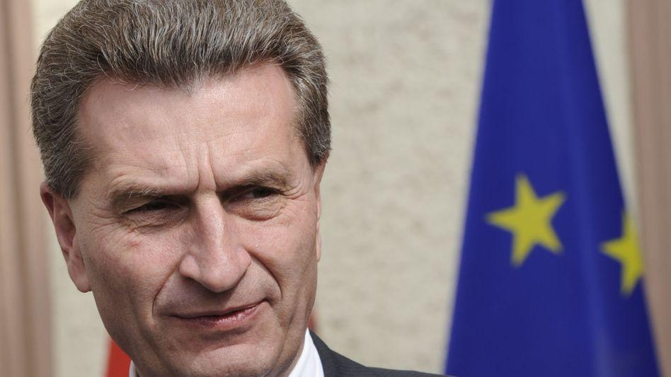 """Günther Oettinger: Die EZB dürfe nicht zu einer """"europäischen Federal Reserve"""" werden"""