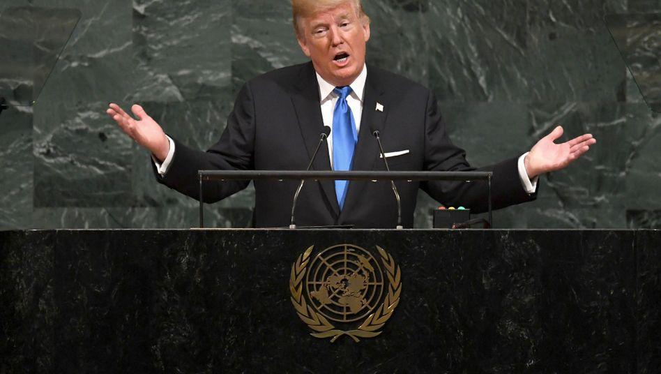 Donald Trump vor der UN-Vollversammlung