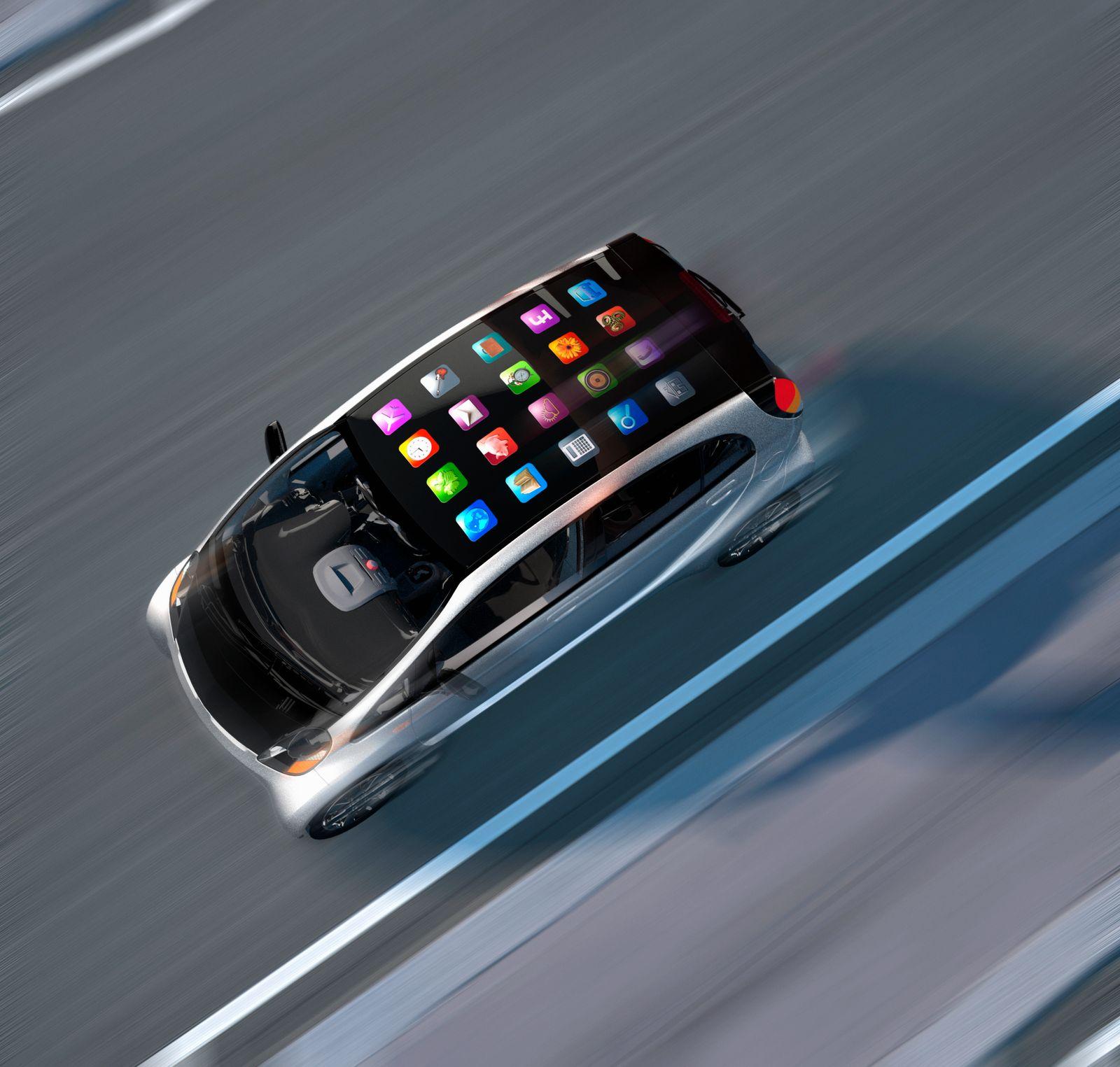 NICHT MEHR VERWENDEN! - Mobile apps on top of speeding car