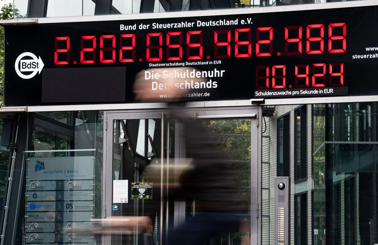 Schuldenuhr zeigt neuen Höchststand an