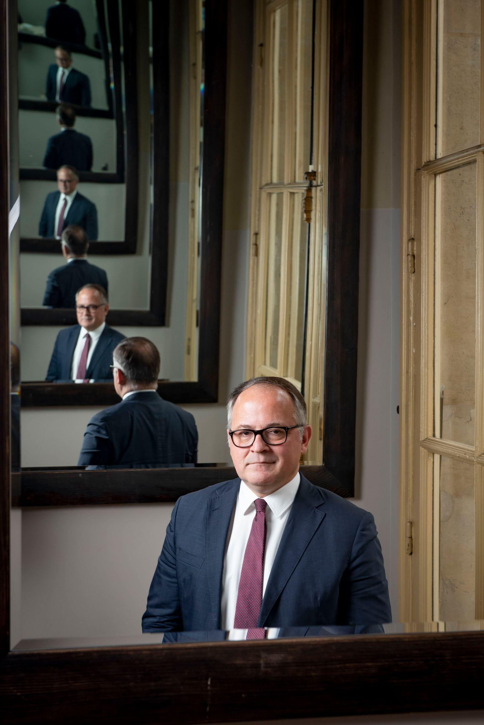 Benoit Coeure, economiste, membre du directoire de la Banque centrale europeenne, BCE