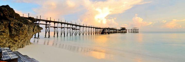 Auf Stelzen über den Ozean: Das Jetty im Essque Zalu Zanzibar