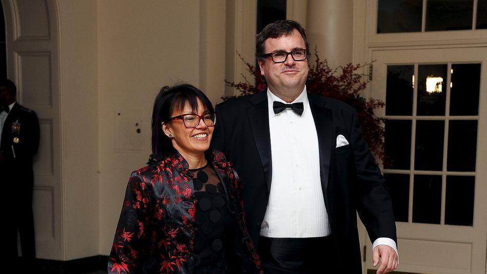 Kennt mit Sicherheit einen, der einen kennt: Linkedin-Gründer Reid Hoffman und Ehefrau Michelle Yee