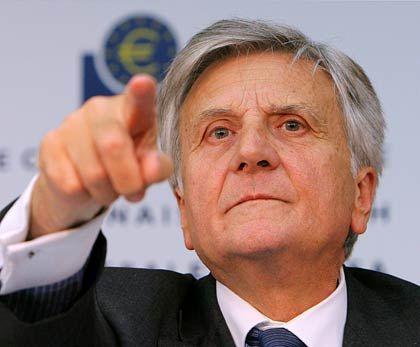 Da geht es lang: Wenn EZB-Präsident Trichet eine Zinsentschiedung verkündet, hören die Anbieter von Baukrediten genau hin