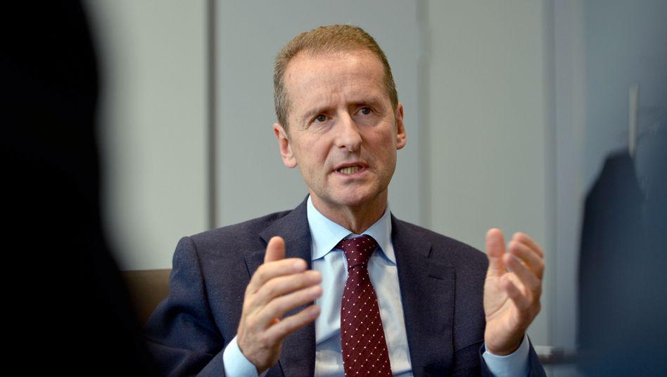 """VW-Markenchef Herbert Diess: """"VW muss schnell wieder Geld verdienen"""""""