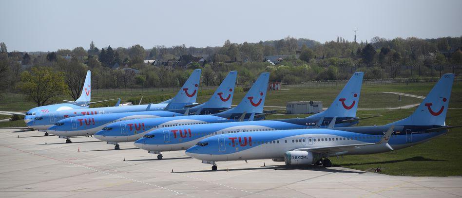 Flieger von Tui: Der Konzern steht in der Krise mit dem Rücken zur Wand
