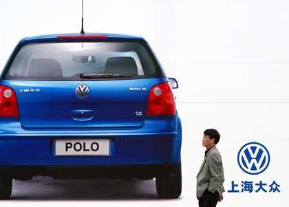 Erobert die Pole-Position auf dem umkämpften chinesischen Markt: VW-Werbung in Schanghai