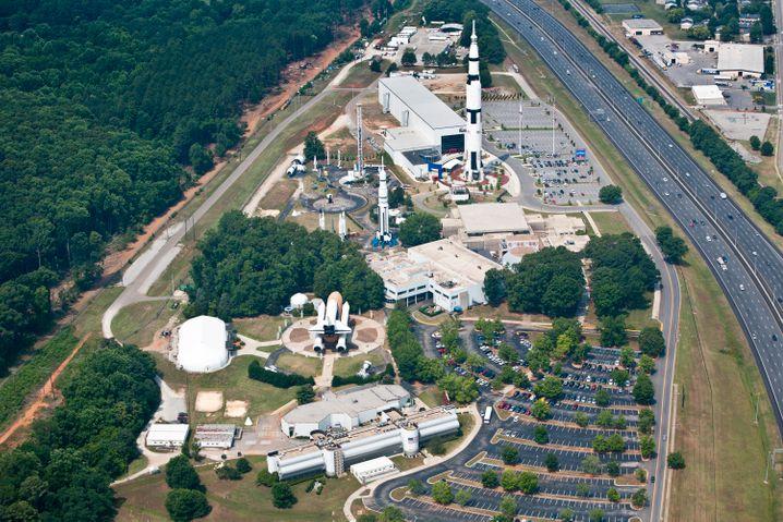 Großes Areal für Raumfahrtfans: Das US Space & Rocket Center liegt bei Huntsville im Norden von Alabama.