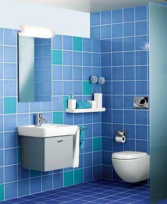 Badezimmer in maritimen Farben