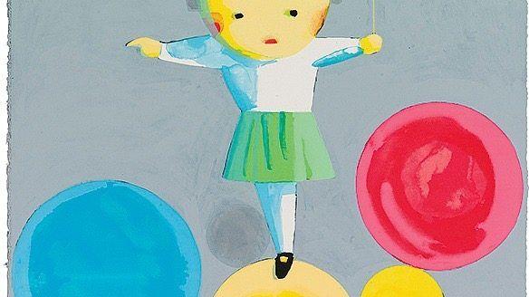 """MONDRIAN-FAN Liu Ye, """"Little Girl With Balloons"""""""