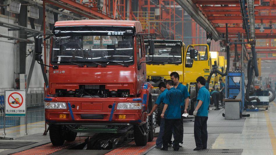 Geringere Produktion: Chinas Industrie hat einen gang zurückgeschaltet.