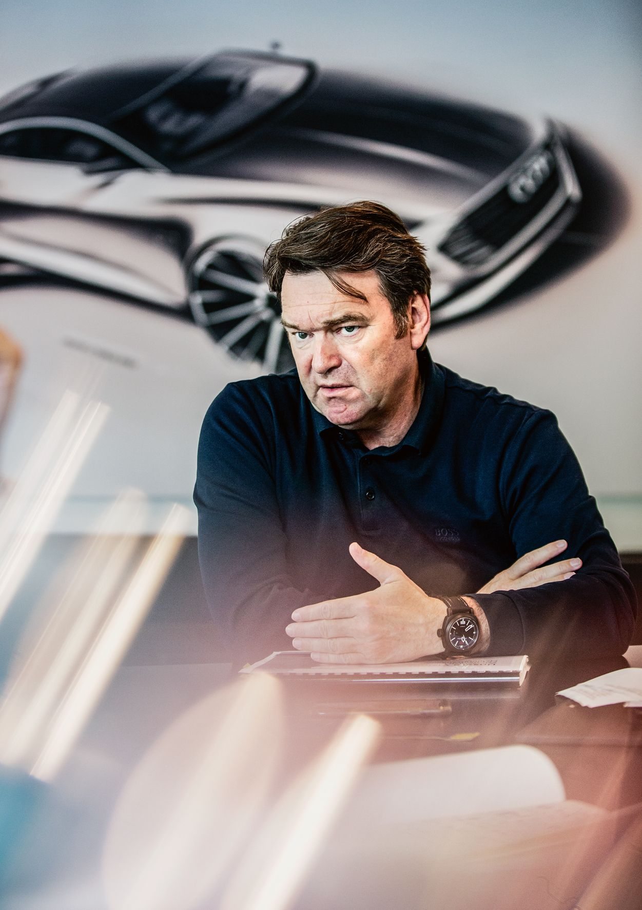 Bram Schoot (CEO Audi) auf dem Audi-Gelände in Ingolstadtfür Manager MagazinIngolstadt, 10.05.2019