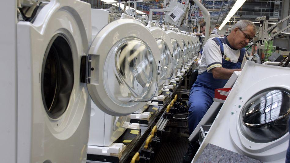 Miele-Werk in Gütersloh: Das Unternehmen blickt nur mit gedämpfter Zuversicht in die Zukunft