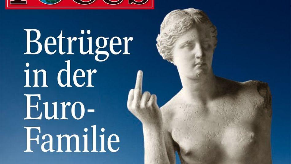 "Aphrodite mit ordinärer Geste: Umstrittenes ""Focus""-Titelbild vom 22. Februar 2010"