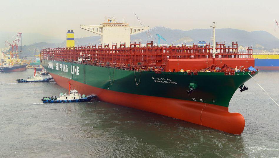 Weltrekord: Das neue Schiff von CSCL ist mit 400 Metern einen Meter länger als der bisherige Rekordhalter