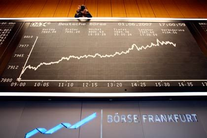 Börse Frankfurt am Main: Verhaltene Zuversicht herrscht bei Händlern und Anlegern