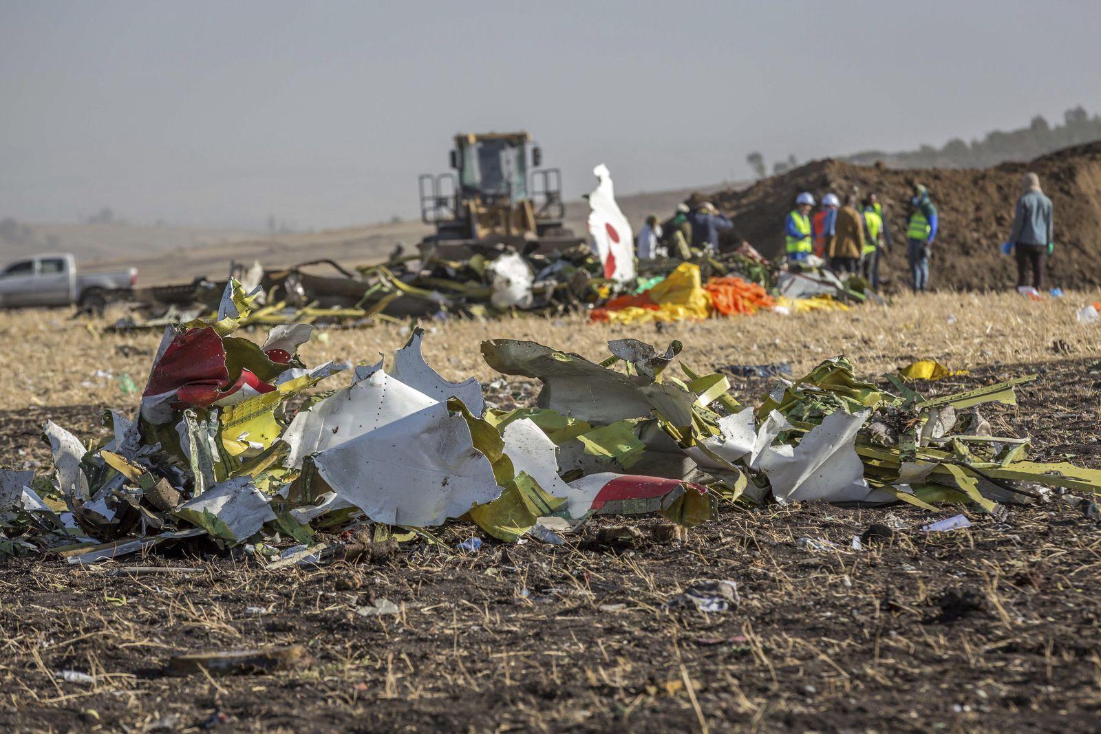 Flugzeug von Ethiopian Airlines abgestürzt
