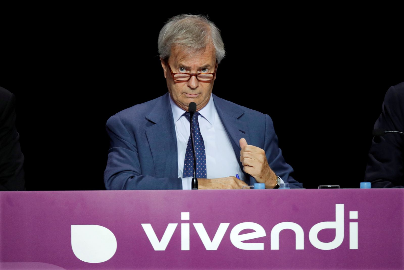 FILE PHOTO: Vincent Bollore attends Vivendi's shareholders meeting in Paris