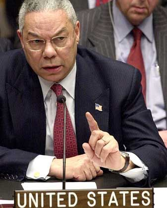 Vor dem Sicherheitsrat: US-Außenminister Colin Powell