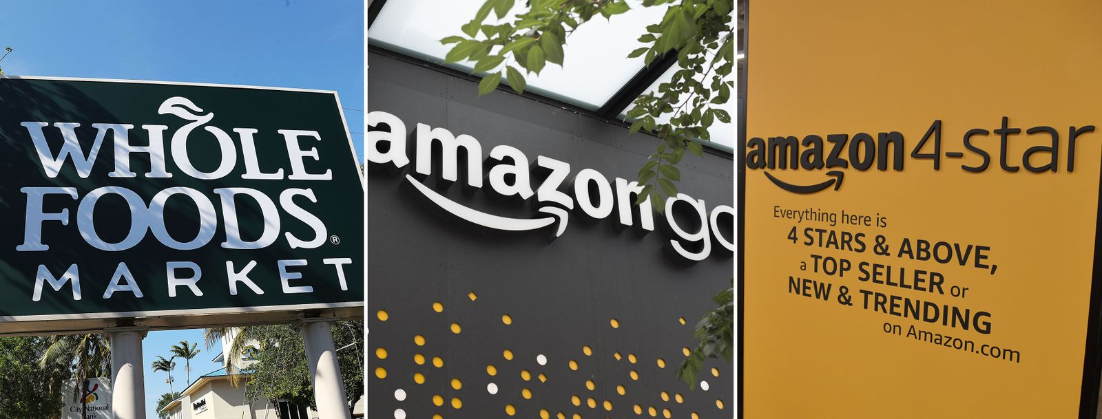 EINMALIGE VERWENDUNG KOMBO amazon / whole foods market / amazon go / amazon 4-star