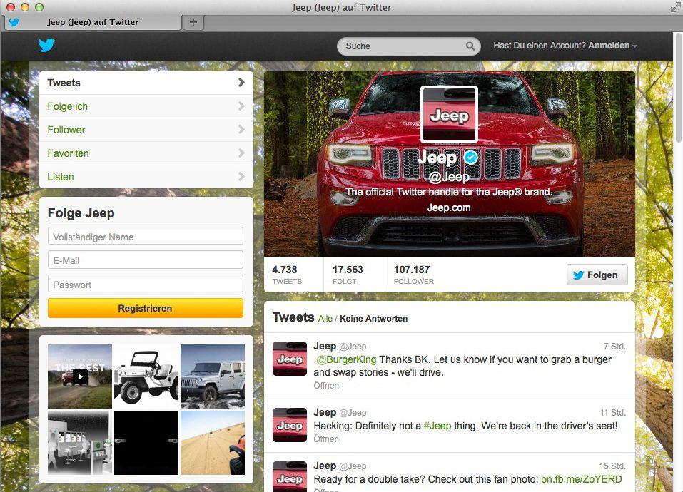 NUR ALS ZITAT Screenshot Jeep