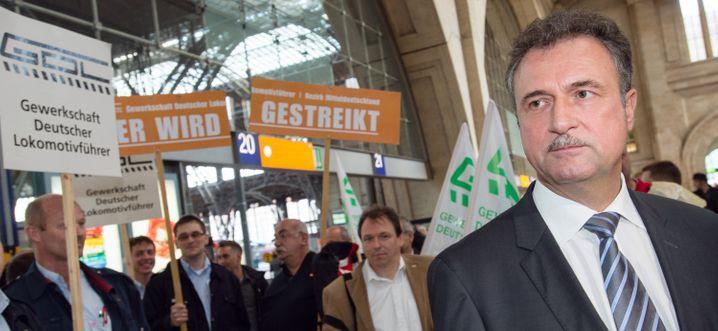 Lehnt Polizeischutz bis jetzt ab: GDL-Chef Claus Weselsky