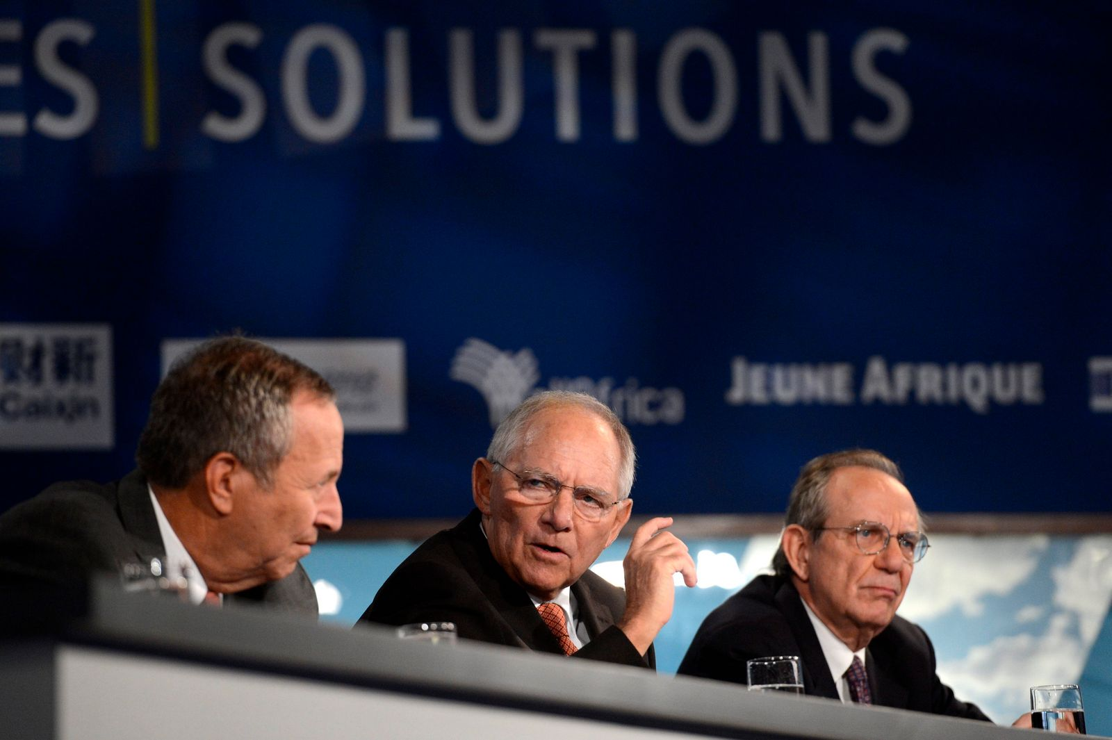 Schäuble / IWF / Larry Summers / Pier Carlo Padoan