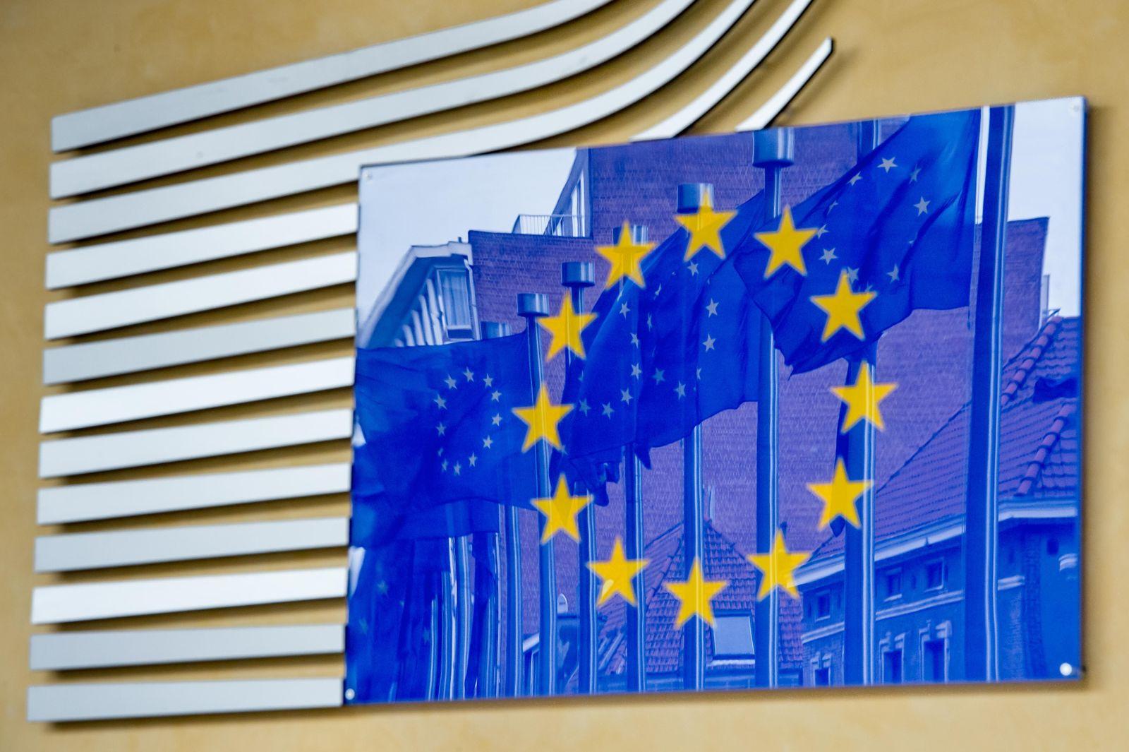 Europa-Flaggen in Brüssel