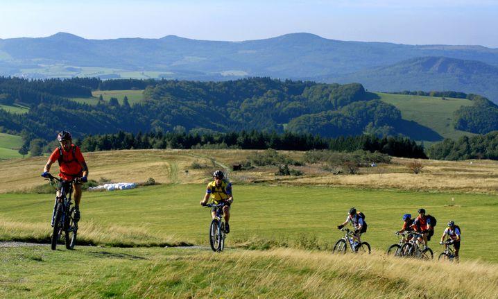 Da braucht man schon ein Mountainbike: Die Spessart-Puzzle-Tour ist für Steigungen bekannt