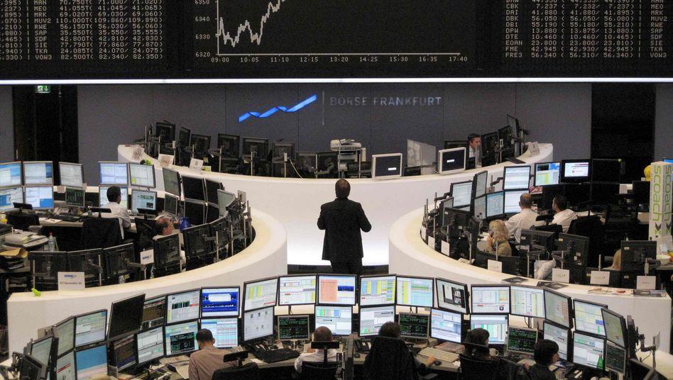 Frankfurter Börsenparkett: Schauplatz des Kampfes um die 6300-Punkte-Marke