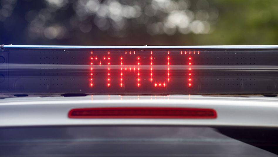 Maut-Licht: Signaleinrichtung eines Fahrzeugs des Bundesamts für Güterverkehr