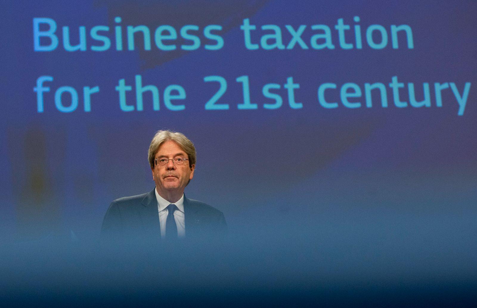 EU-Kommission zur Unternehmensbesteuerung in Brüssel