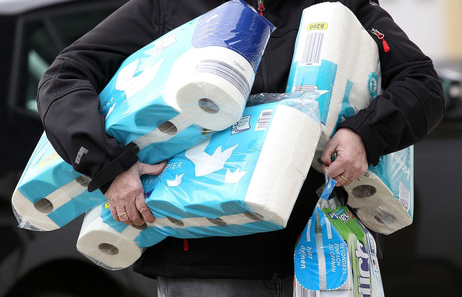 Toilettenpapier / Hamsterkäufe / Coronavirus