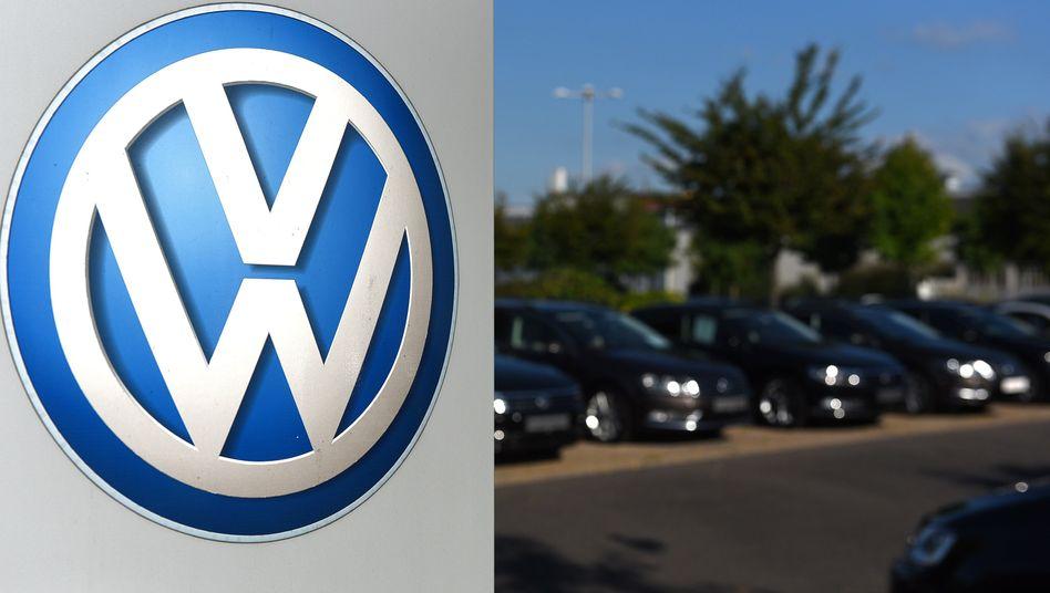 Inzwischen über die Maßen bekannt: Das Logo der Volkswagen AG.