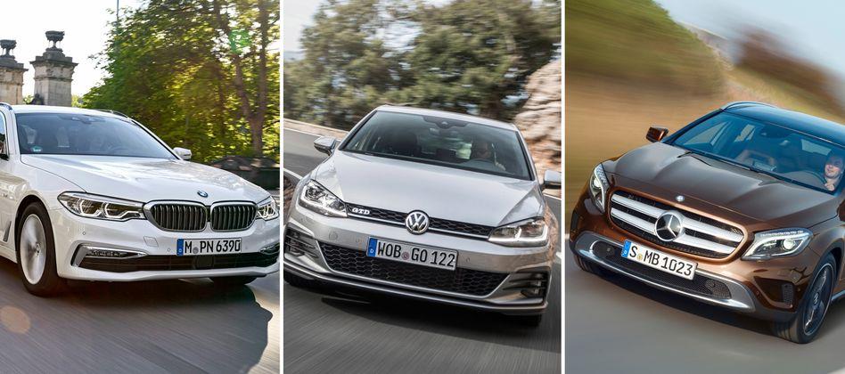 Angebliche Kartell-Partner BMW, Volkswagen und Daimler: Einige Autobauer könnten gegen die Adhoc-Pflicht verstoßen haben