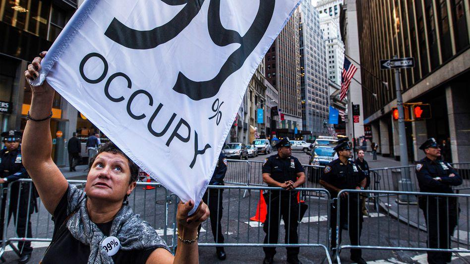 Unmut im Namen der 99 Prozent: Occupy-Demo an der Wall Street 2012.