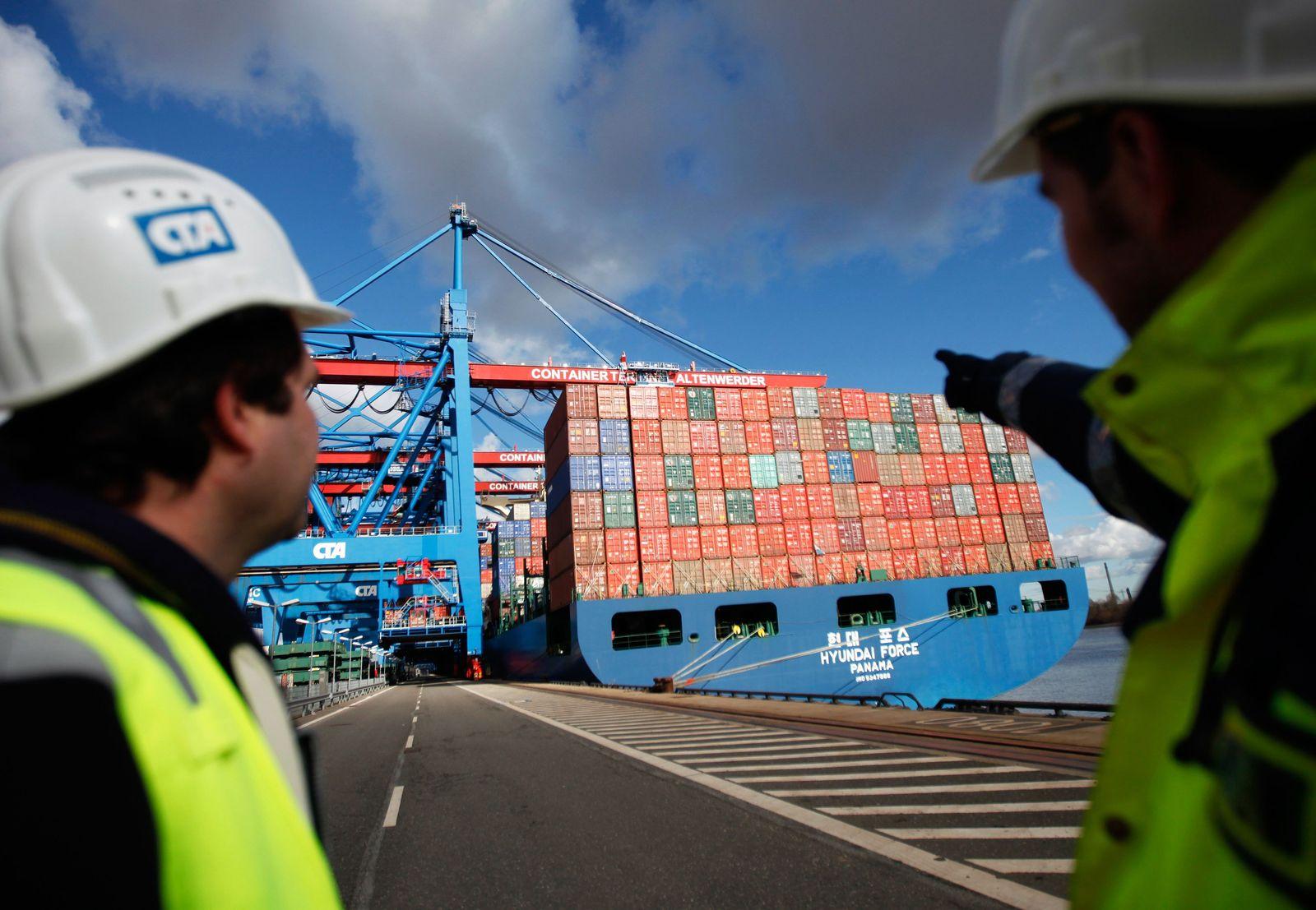 Deutschland / Konjunktur / Export / Import / Globalisierung / Hamburg Hafen / Container