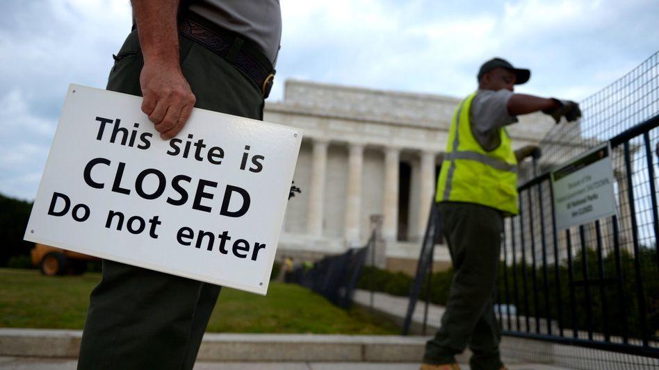 Washington: Rund 800.000 US-Regierungsmitarbeiter sind seit knapp einer Woche im unbezahlten Urlaub