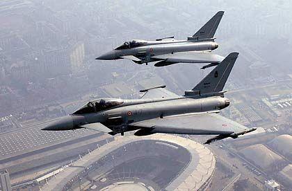 Eurofighter der italienischen Luftwaffe: Das Kampfflugzeug könnte nach Indien exportiert werden