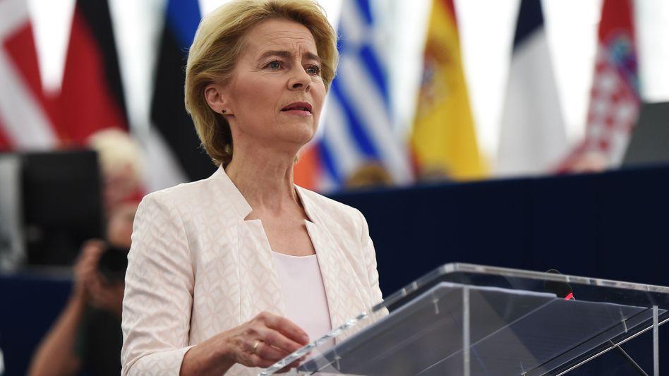 Ursula von der Leyen im Europaparlament
