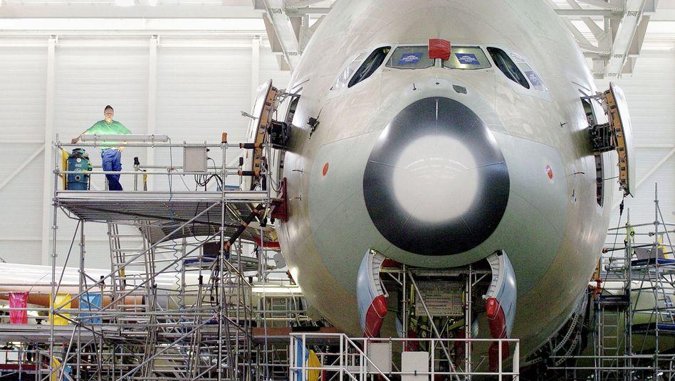 Montage eines Airbus A380 in Toulouse: Die USA werfen Airbus vor, Auflagen der WTO nicht eingehalten zu haben
