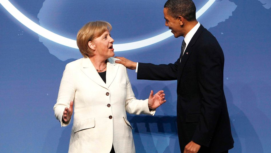 Merkel, Obama: Äußerlich gelassen, innerlich gespannt