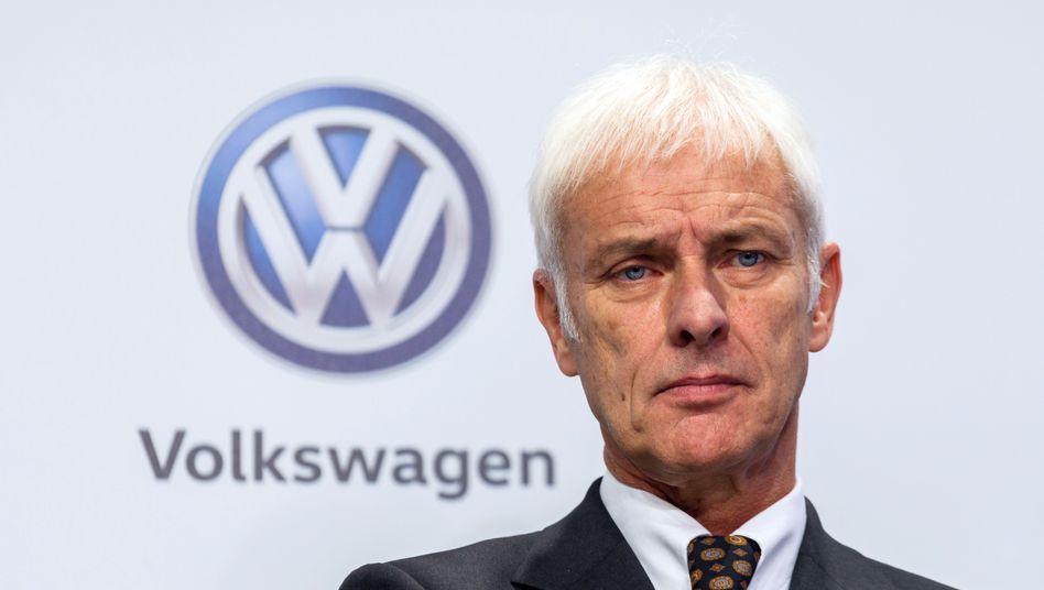 VW-Chef Matthias Müller: Die VW-Aktie notiert so hoch wie seit Bekanntwerden des Dieselskandals im Herbst 2015 nicht mehr