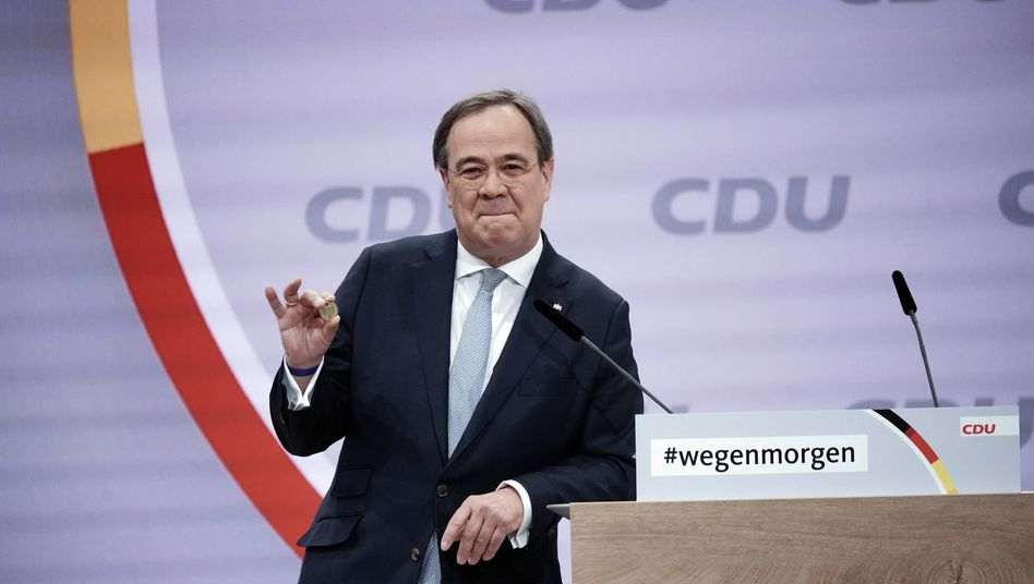 Seine Rede überzeugte: Der neue CDU-Parteichef Armin Laschet wird jetzt den unterlegenen Friedrich Merz, der viele Anhänger auch in der Wirtschaft hat, irgendwie einbinden müssen