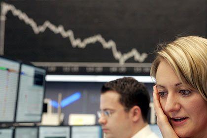 Nachdenklich: Investoren mussten sich am Dienstag mit fallenden Kursen anfreunden