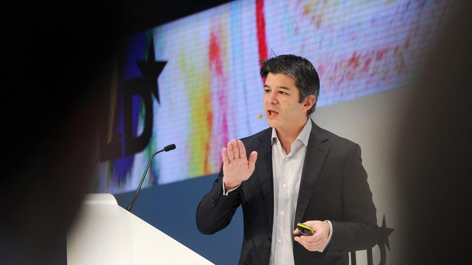 Auf Beruhigungstour: Uber-Chef Travis Kalanick am Sonntag in München bei der Eröffnung der DLD (Digital-Life-Design) Konferenz.