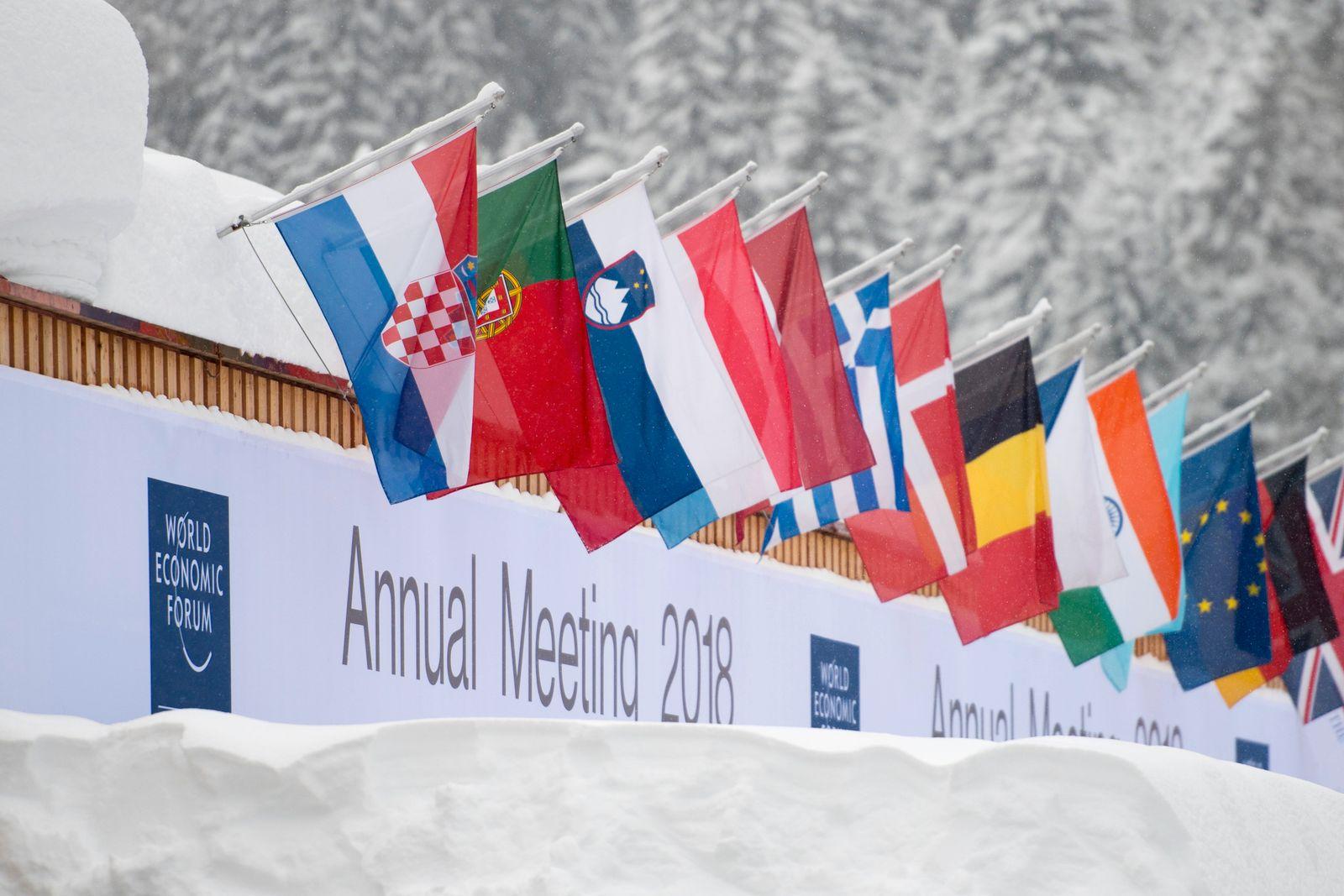 Flaggen Davos WEF